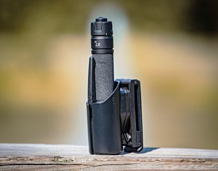 Asp flashlight in kydex belt holster