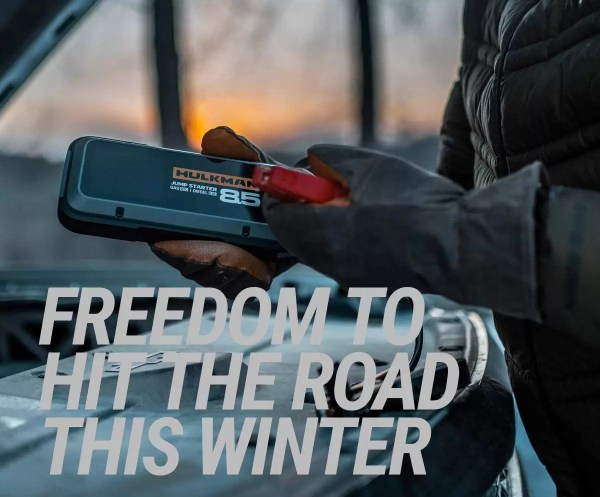 car gifts for cold weather driving: Hulkman85S portable battery charger.