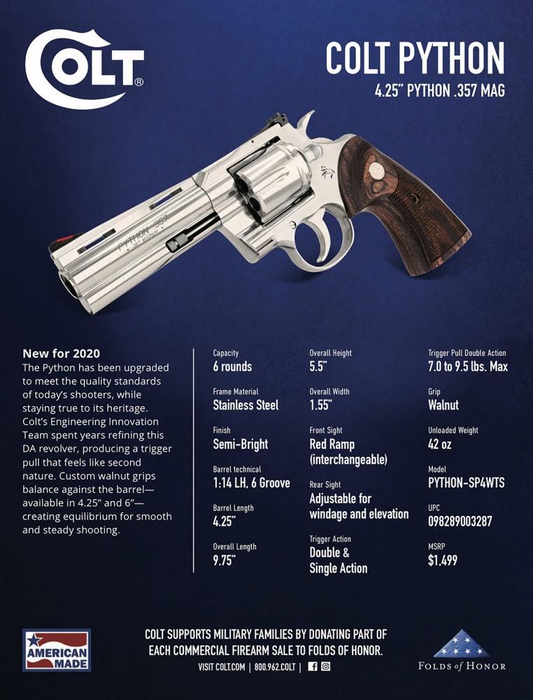 Colt Python 2020 specs