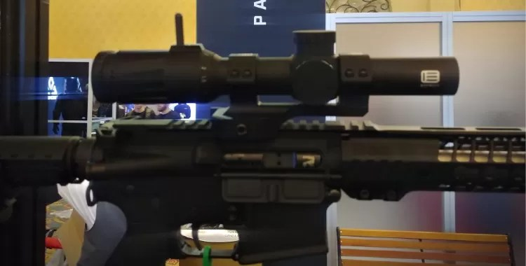 Here's the EOTECH Vudu 1-8x24SFP Scope on display at the booth.