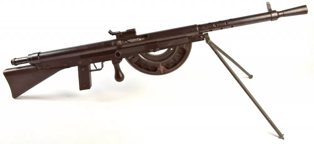 """The """"Fusil Mitrailleur Modele 1915 CSRG"""" – more commonly known as the Chauchat. (Author's Collection)"""