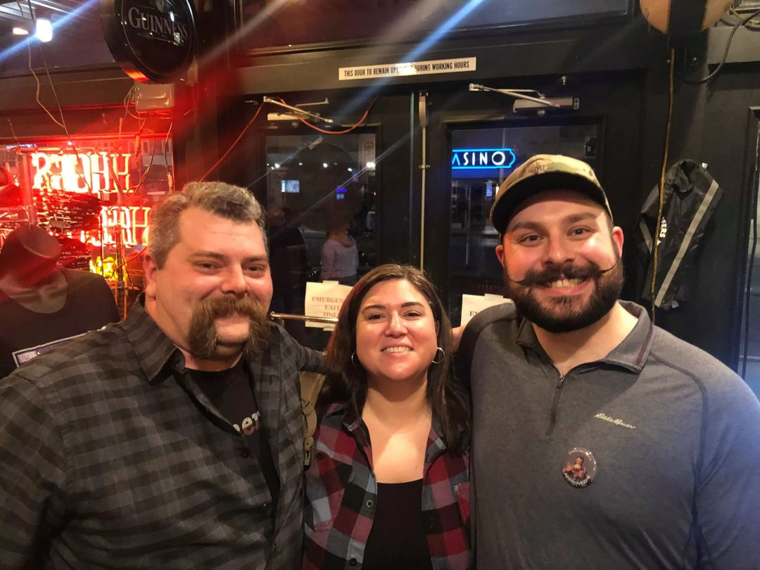 Jon Duty and Genevieve Price from Bad Moon Armory with Ryan at the Bangin' Brouhaha veterans charity.