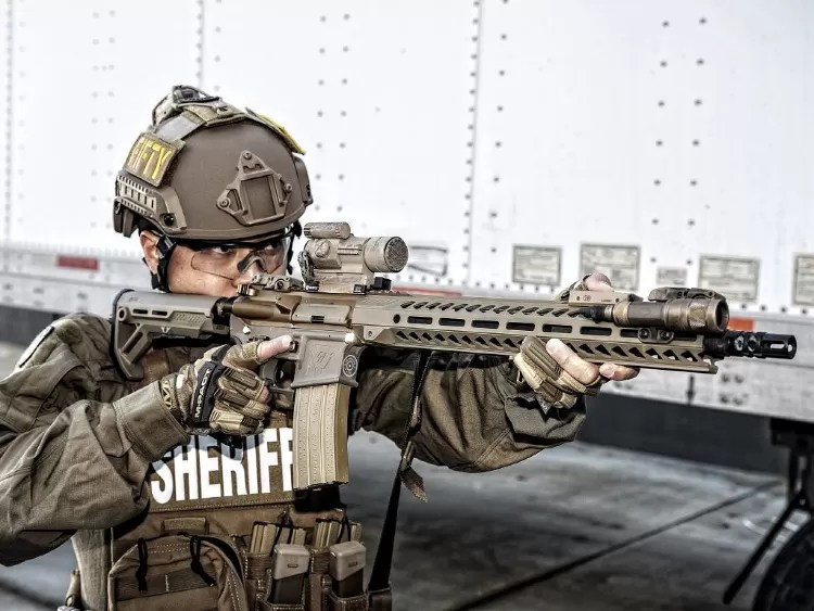 Fifty Shades of FDE, full kit, M-Pact shooting gloves.