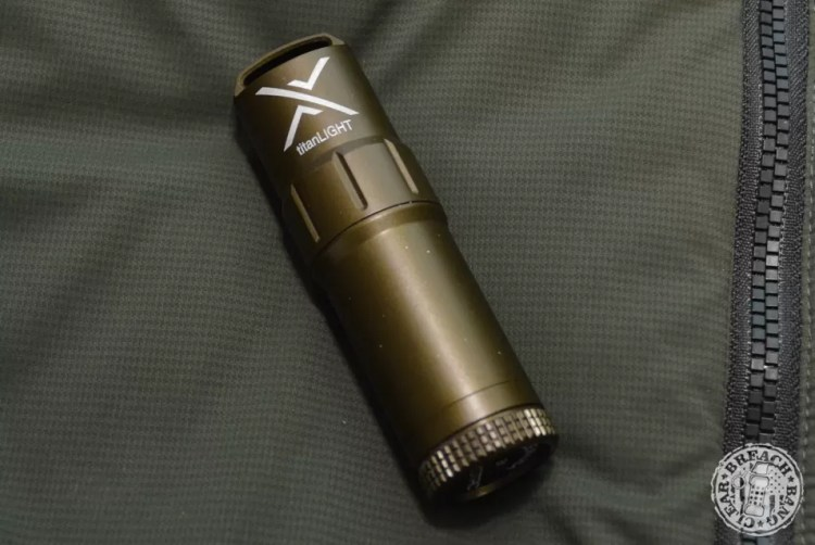 #6 list of olive drab EDC items: Exotac TitanLIGHT keeps your gas in.