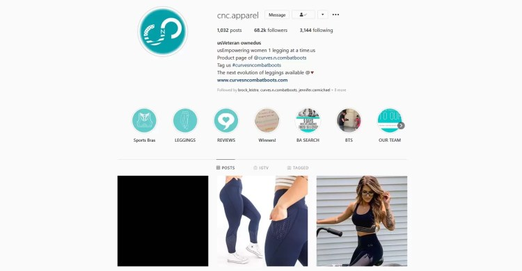 Curves N Combatboots Instagram account where they interact and talk with their customer frequently. Daily something new is added, may it be through their stories or on their account itself.