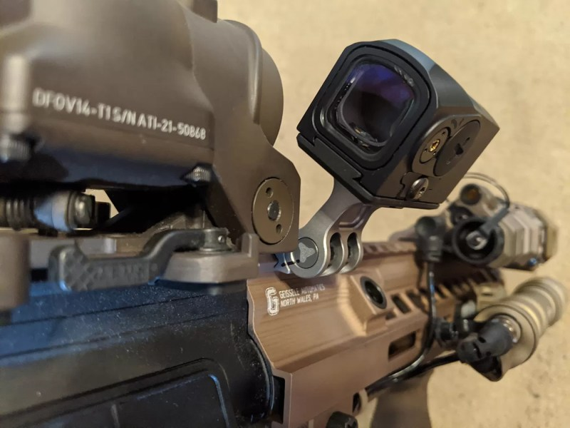 """Offset mount of choice: for this weapon it's the """"Rukh"""" from Valhalla Tactical."""