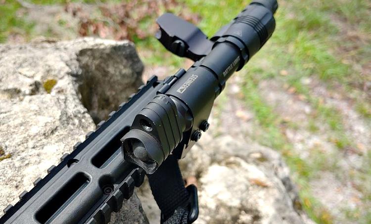 Steiner Mk4 weapon light on KelTec Sub 2000.
