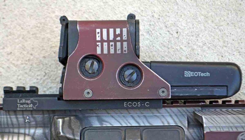 EOTech optic on a LaRue tactical QD mount.