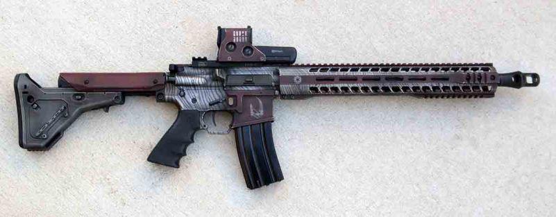 Mandalorian gun - beskar blaster in 458 SOCOM