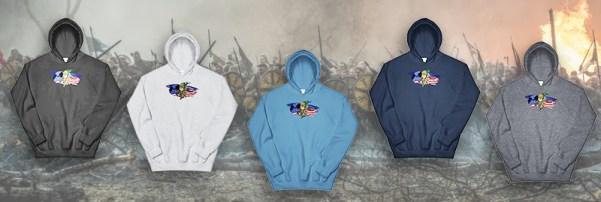 Viking hoodies available at Anachrobellum