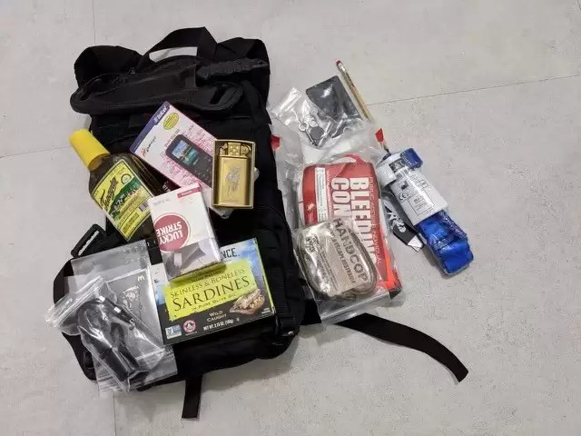 Ed's Manifesto built Go-Bag. Includes gear from Sneakreaper Industries and the Sneak Reaper Cartel.