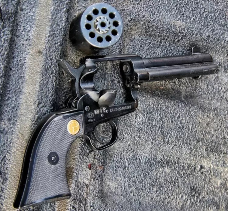 Chiappa revolver with cylinder removed