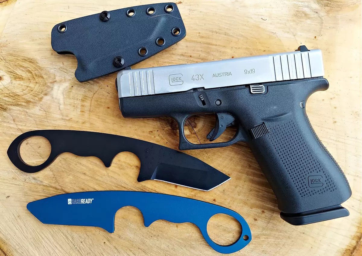 HR-1 and trainer with a Glock 43X.