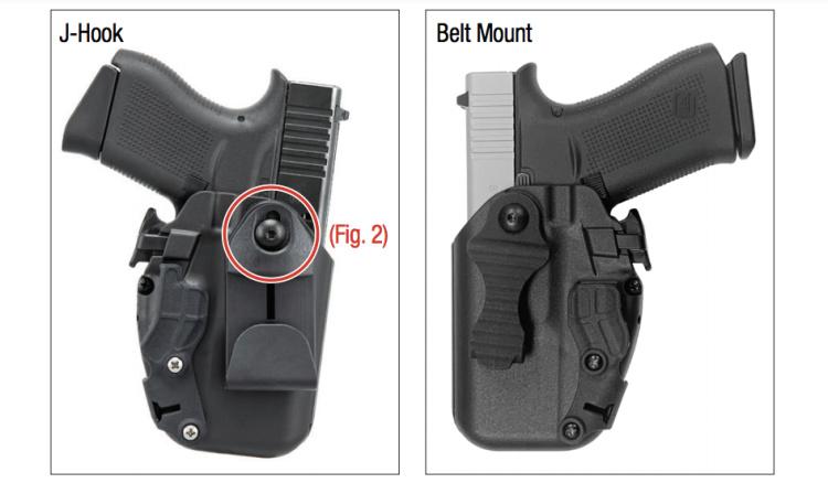 Safariland 575 Slim belt mount options.
