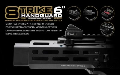 Brand New | Strike 6″ Handguard for CZ Scorpion EVO Pistol