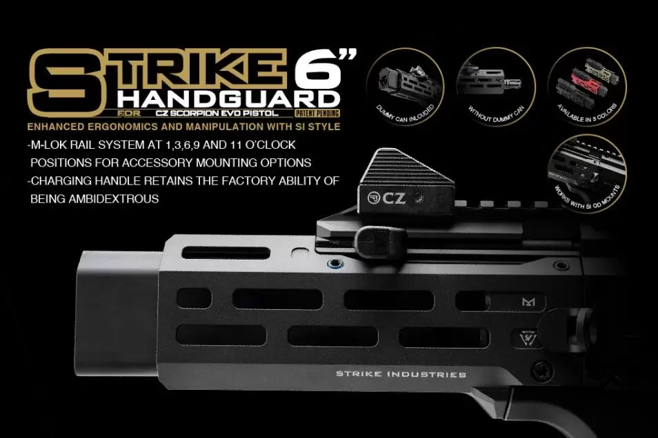 Brand New | Strike 6″ Handguard for CZ Scorpion EVO Pistol