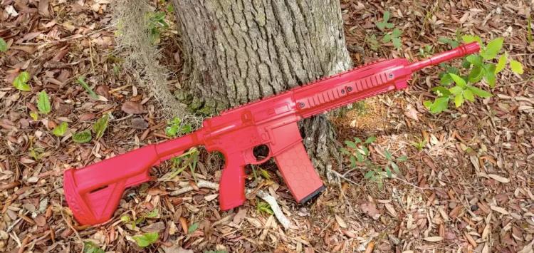 ASP HK 416 red gun training gun