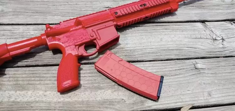 ASP Enhanced H&K 416 red gun with drop magazine