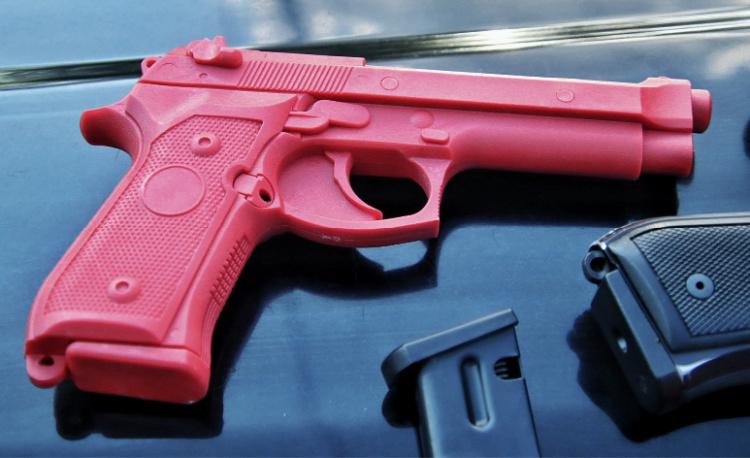 Beretta M9 red gun for training.