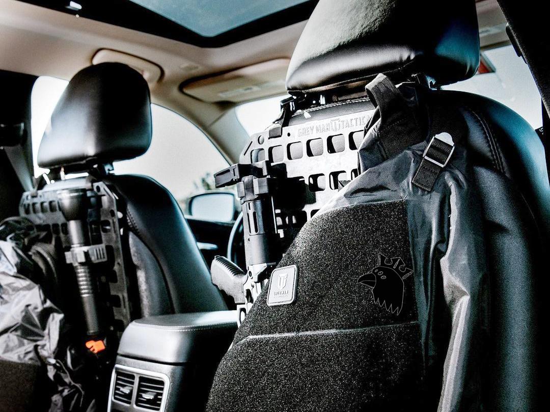 Grey Man Tactical Vehicle Seatback MOLLE Panel
