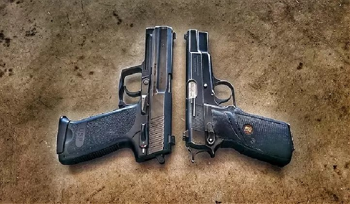 Heckler & Koch USP .45 and Browning Hi-Power