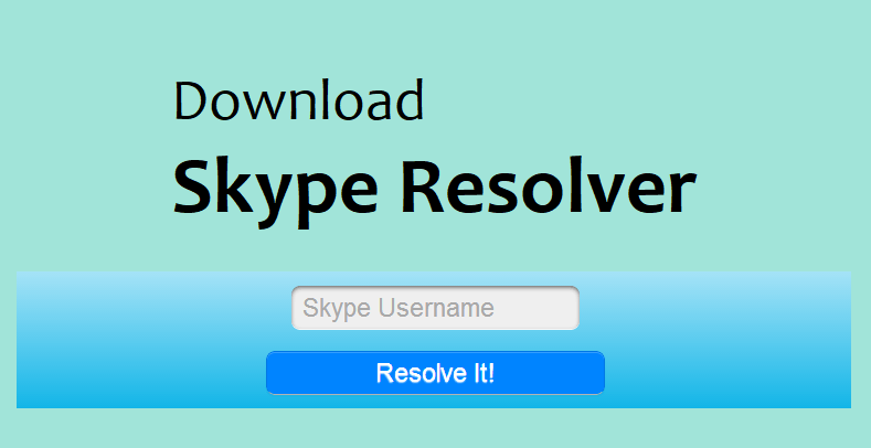 Download Skype Resolver - Ethical Hacking Tutorials