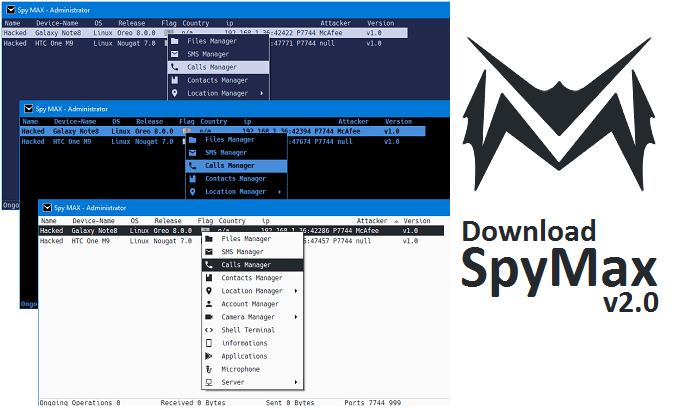 Download SpyMAX v2.0 – Android Remote Administration Tool