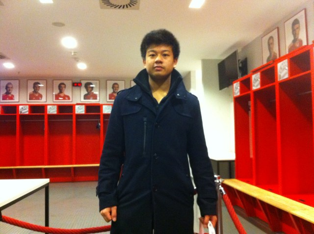 FC Bayern changing room