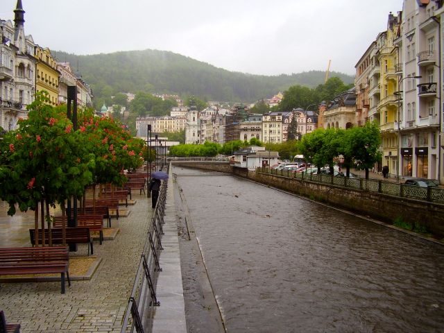 Karlovy Vary in the rain