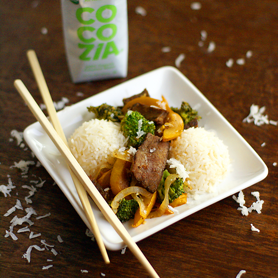 coconut rice stir fry