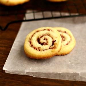 cranberry orange pinwheel cookies