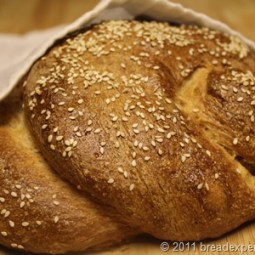 Whole Grain and Emmer Challah with Apples and Honey