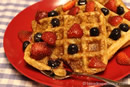 Flax and Coconut Waffles