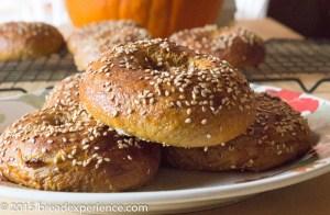 Kefir Milk Pumpkin Spelt Bagels
