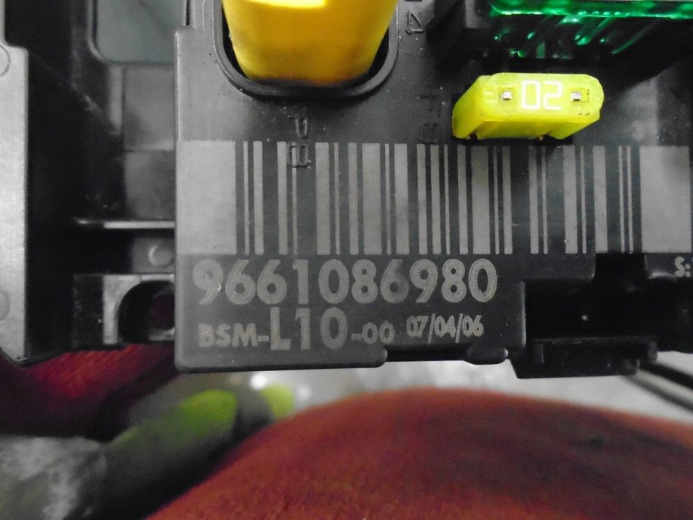 medium resolution of peugeot 207 1 4 16v fuse box 9661086980