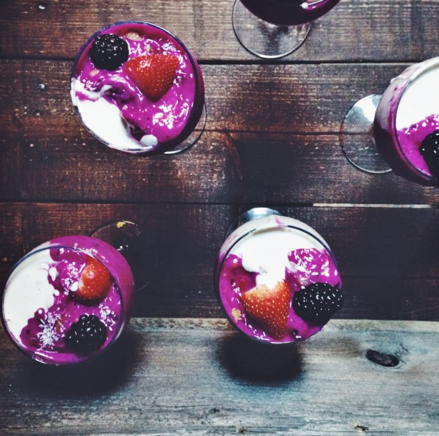 Raw Dragonfruit Cashew Cream Parfait | Breakfast Criminals