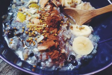 Healing Blueberry Ginger Oatmeal Alternative Toppings