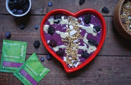 Wild Berry Tahini Detox Smoothie with Aloha Daily Good | Breakfast Criminals
