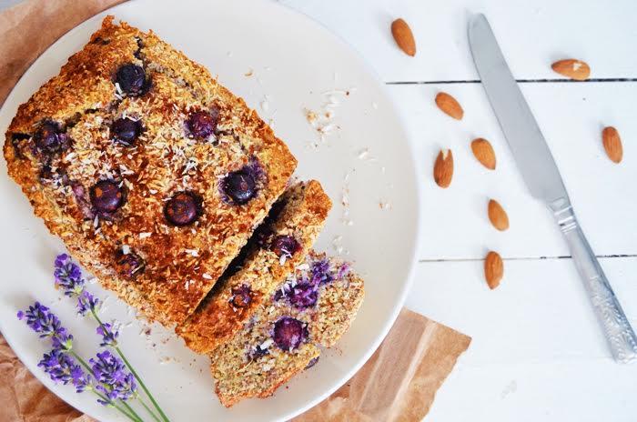 Sunday Morning Blueberry, Coconut & Almond Loaf