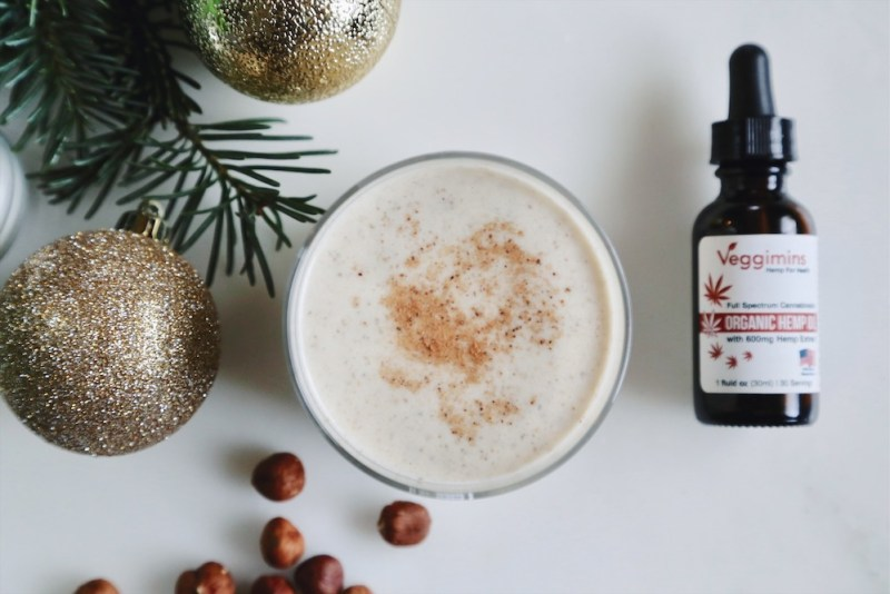 Stress-Free CBD Infused Raw Vegan Egg Nog Recipe