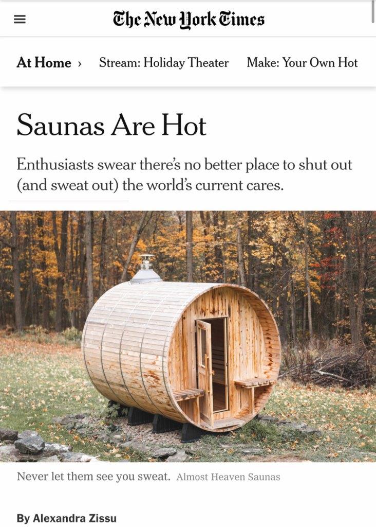 New York times sauna artile