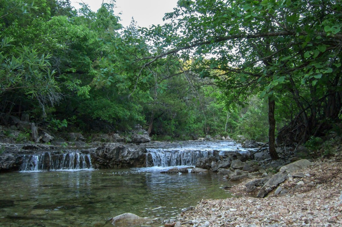 We camped near this great spot on the creek.