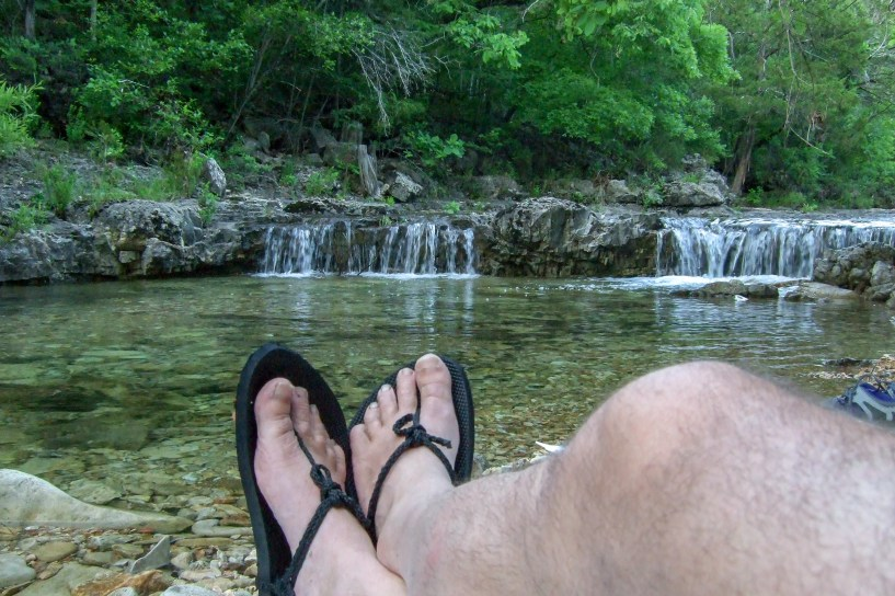 Relaxing by the creek