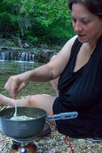Ginger Stirring dinner