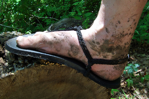 More muddy feet. Copyright © 2011 Gary Allman, all rights reserved.