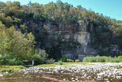 Bluffs on the Buffalo river near Ponca, Arkansas. Copyright © 2011 Gary Allman, all rights reserved.