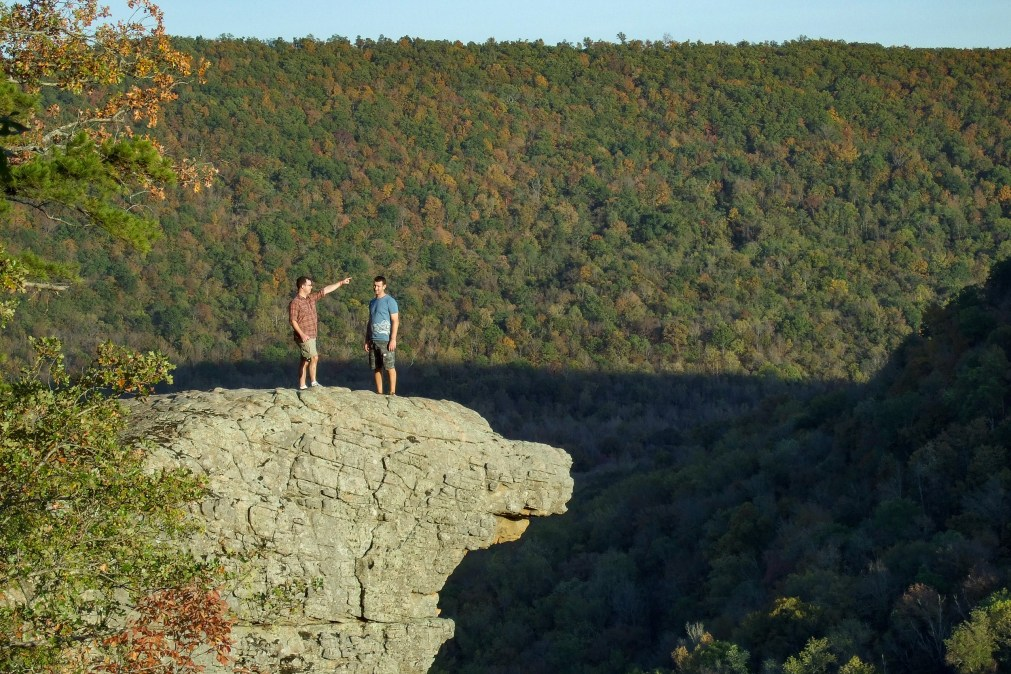 Hawksbill Crag (Whittaker Point), Arkansas - My hiking/backpacking companions for this trip. Copyright © 2011 Gary Allman, all rights reserved.