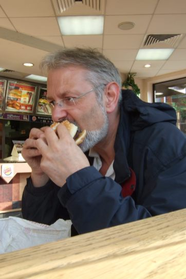Burger King for dinner. One of my first forays into the realm of fast foods. Copyright © 2007 Gary Allman, all rights reserved.