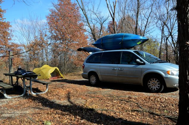 Camping at Bucksaw Campground. Copyright © 2011 Gary Allman, all rights reserved.