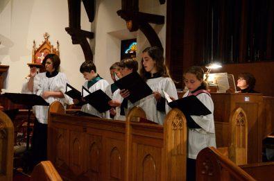Half the St Cecilia Choir - including Lanie